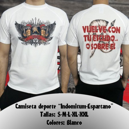 "Camiseta deporte "" Indomitum-Espartano """